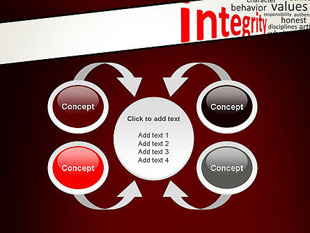 Integrity Word Cloud PowerPoint Template Slide 6