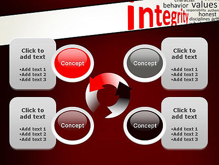 Integrity Word Cloud PowerPoint Template Slide 9