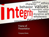 Consulting: Integrity Word Cloud PowerPoint Template #13333