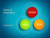 Business Concepts: Plantilla de PowerPoint - visión y valores de la misión #13336