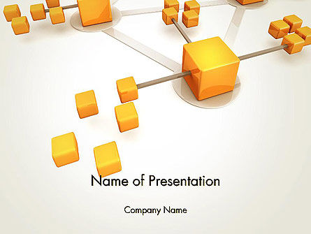 3D: Connection Concept PowerPoint Template #13338