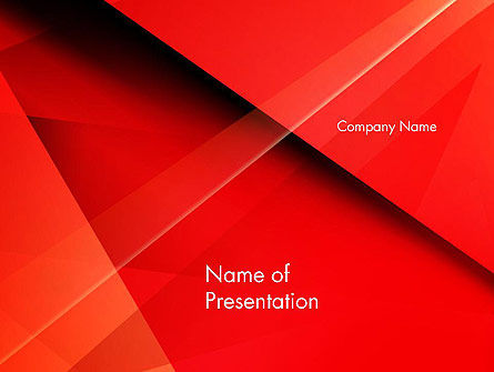 Overlapping Red Layers PowerPoint Template