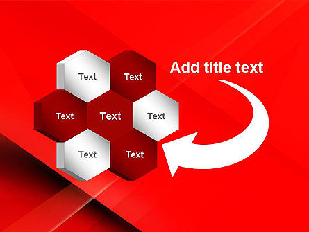 Overlapping Red Layers PowerPoint Template Slide 11