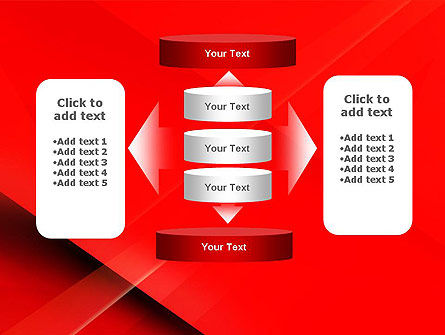 Overlapping Red Layers PowerPoint Template Slide 13