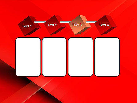 Overlapping Red Layers PowerPoint Template Slide 18