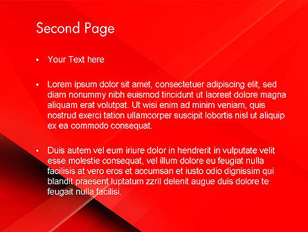 Overlapping Red Layers PowerPoint Template, Slide 2, 13339, Abstract/Textures — PoweredTemplate.com