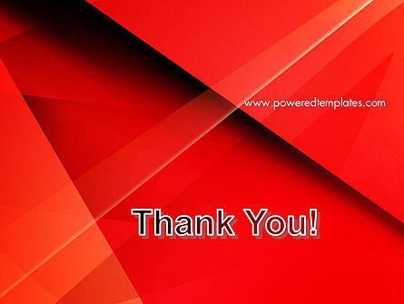 Overlapping Red Layers PowerPoint Template Slide 20