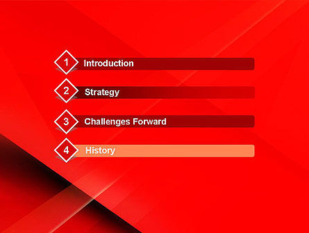 Overlapping Red Layers PowerPoint Template Slide 3