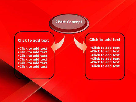 Overlapping Red Layers PowerPoint Template Slide 4