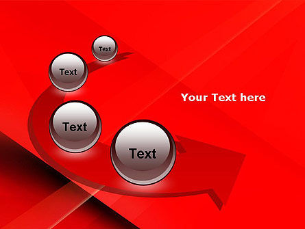 Overlapping Red Layers PowerPoint Template Slide 6