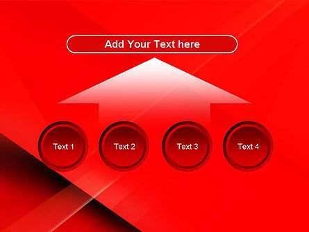 Overlapping Red Layers PowerPoint Template Slide 8
