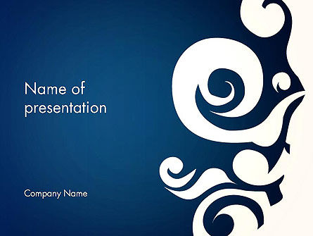 Thai Style Pattern PowerPoint Template, 13340, Art & Entertainment — PoweredTemplate.com