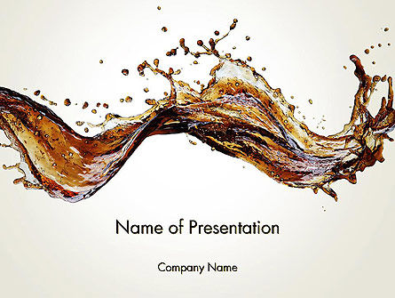 Food & Beverage: Cola Splash PowerPoint Template #13341