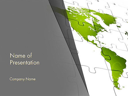 Global: North and South America Map PowerPoint Template #13342