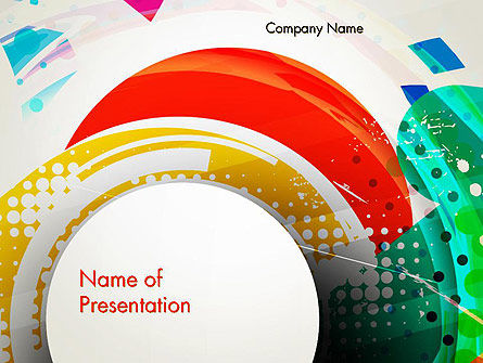 Stir Colored Layers Abstract PowerPoint Template, 13343, Art & Entertainment — PoweredTemplate.com