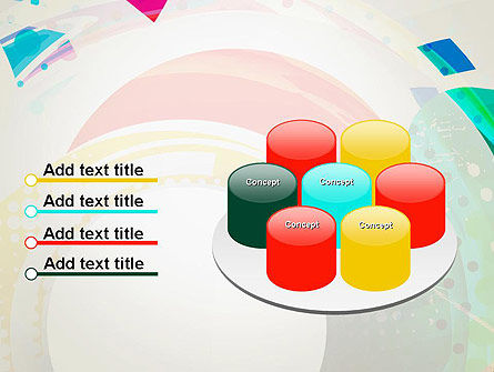 Stir Colored Layers Abstract PowerPoint Template Slide 12