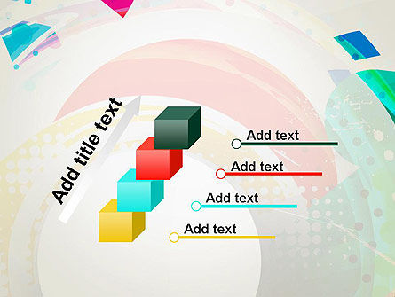 Stir Colored Layers Abstract PowerPoint Template Slide 14