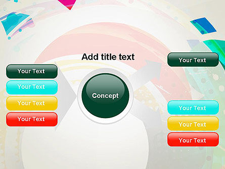 Stir Colored Layers Abstract PowerPoint Template Slide 15
