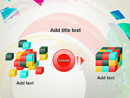 Stir Colored Layers Abstract PowerPoint Template Slide 17