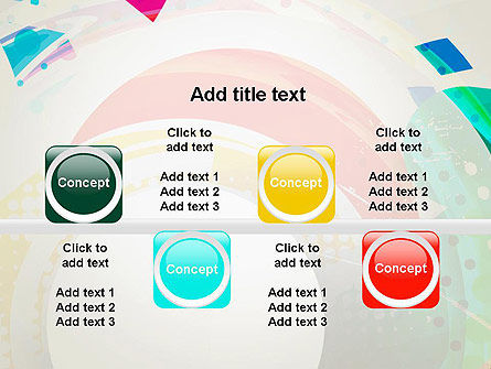 Stir Colored Layers Abstract PowerPoint Template Slide 18