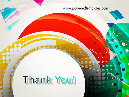 Stir Colored Layers Abstract PowerPoint Template Slide 20
