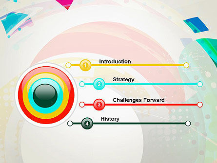 Stir Colored Layers Abstract PowerPoint Template Slide 3