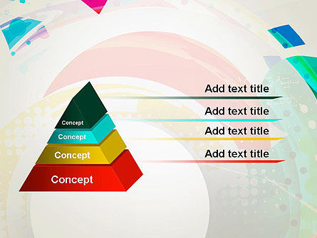 Stir Colored Layers Abstract PowerPoint Template, Slide 4, 13343, Art & Entertainment — PoweredTemplate.com