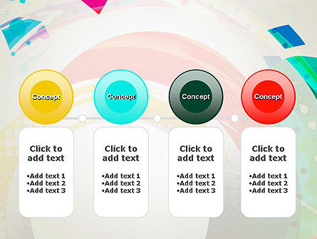 Stir Colored Layers Abstract PowerPoint Template Slide 5