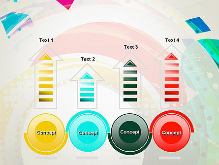 Stir Colored Layers Abstract PowerPoint Template Slide 7