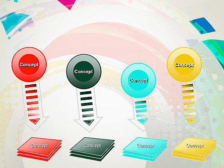 Stir Colored Layers Abstract PowerPoint Template Slide 8