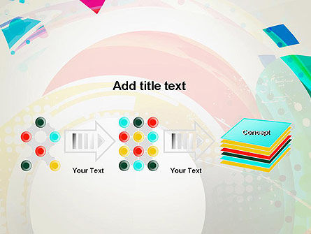 Stir Colored Layers Abstract PowerPoint Template Slide 9