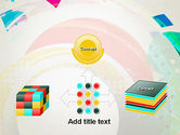 Stir Colored Layers Abstract PowerPoint Template#19