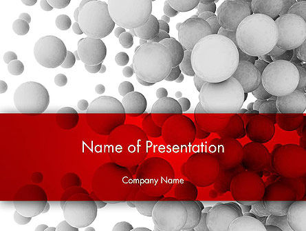 Flying Spheres PowerPoint Template, 13346, 3D — PoweredTemplate.com