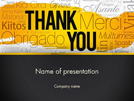 Thank You Collage PowerPoint Template, 13348, Education & Training — PoweredTemplate.com