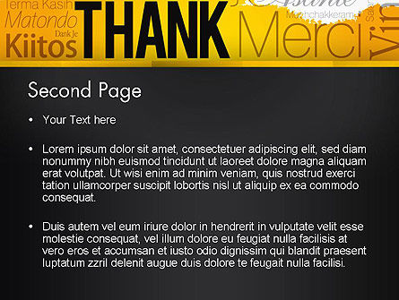 Thank You Collage PowerPoint Template, Slide 2, 13348, Education & Training — PoweredTemplate.com
