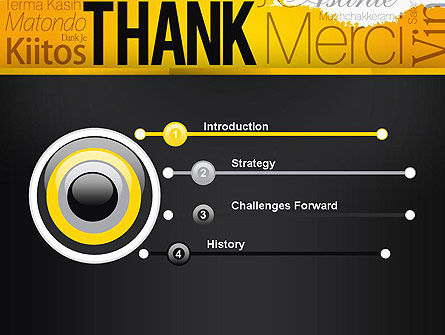 Thank You Collage PowerPoint Template, Slide 3, 13348, Education & Training — PoweredTemplate.com