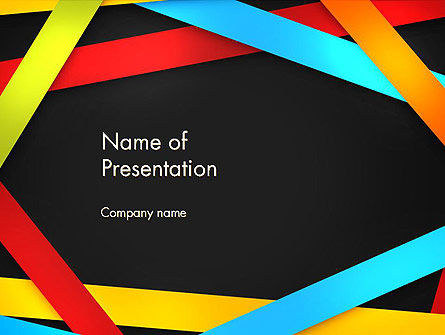 Colored Ribbons PowerPoint Template, 13349, Abstract/Textures — PoweredTemplate.com