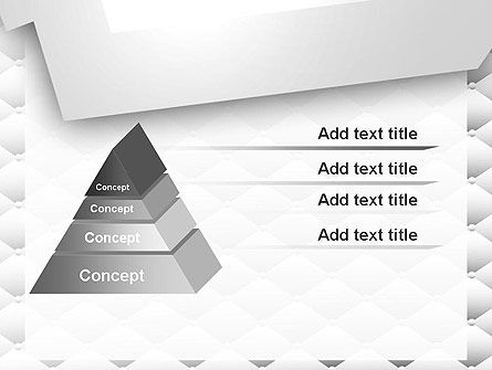 White Quilted PowerPoint Template Slide 12