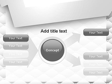 White Quilted PowerPoint Template Slide 14
