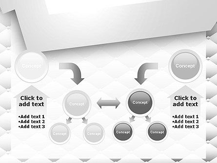 White Quilted PowerPoint Template Slide 19