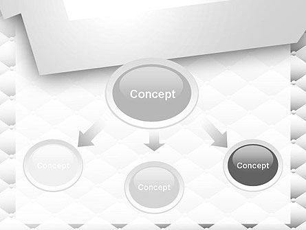 White Quilted PowerPoint Template, Slide 4, 13352, Abstract/Textures — PoweredTemplate.com