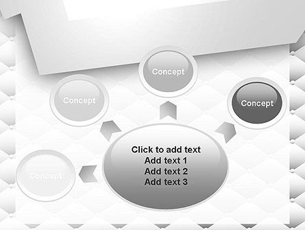 White Quilted PowerPoint Template Slide 7