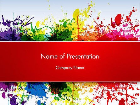 Art & Entertainment: Splashes of Watercolor PowerPoint Template #13353