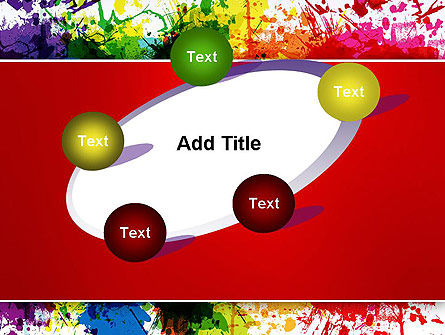 Splashes of Watercolor PowerPoint Template Slide 14