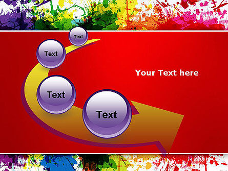 Splashes of Watercolor PowerPoint Template Slide 6