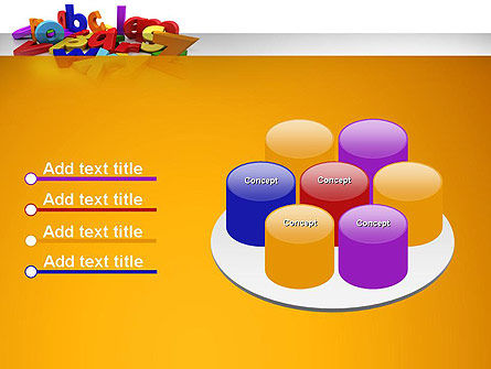 Colorful Letters PowerPoint Template Slide 12
