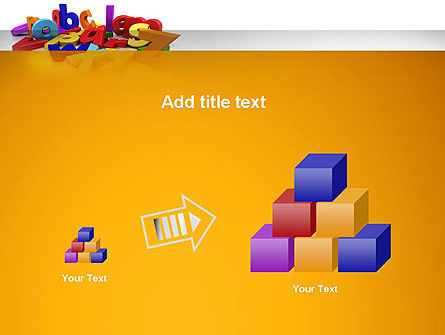 Colorful Letters PowerPoint Template Slide 13