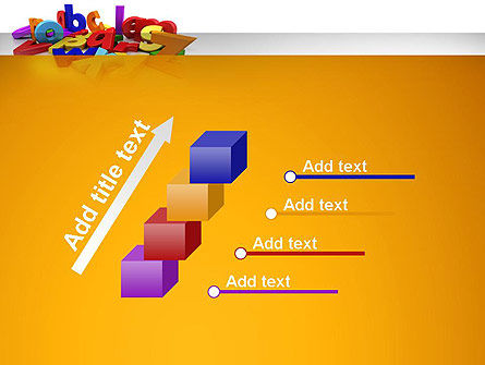 Colorful Letters PowerPoint Template Slide 14