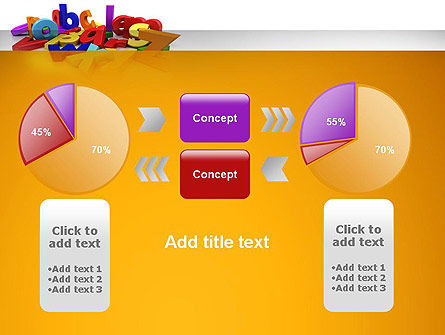 Colorful Letters PowerPoint Template Slide 16