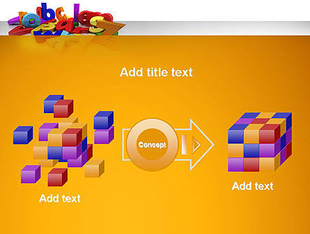 Colorful Letters PowerPoint Template Slide 17